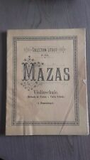 COLLECTION LITOLFF N°2064 MAZAS VIOLINSCHULE A.BLUMENSTENGEL PARTITIONS VIOLONS