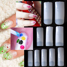 500 Natural French Acrylic UV Gel False Nail Art Tips