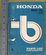 HONDA ST 50 ST 70 PARTS MANUAL PRINTED 1971