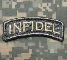 INFIDEL TAB TACTICAL ARMY MORALE ROCKER ACU LIGHT VELCRO® BRAND FASTENER PATCH