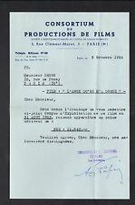 """PARIS (VIII°) LOCATION de BANDE DE FILM pour CINEMA """"CONSORTIUM DU FILM"""" 1953"""