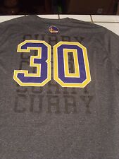 Golden State Warriors exercise jersey poly T-SHIRT Stephen Curry player XL NBA U
