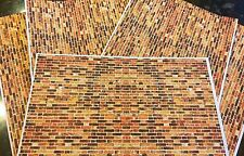 12 A4 Sheets Of 1/18 diorama Old Style Brickwork