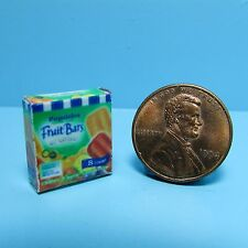 Dollhouse Miniature Replica Box of  Popsicle Fruit Bars for the Freezer ~ G062