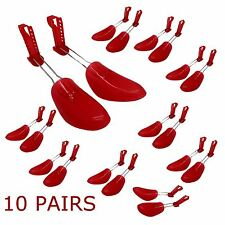 10 x PLASTIC SHOE TREE SHOES SHAPER SHAPES STRETCHER  ADJUSTABLE 5-10 UK WOMENS
