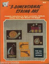 3-Dimensional String Art HA31 1975 Vintage 6 Pattern Instruction Craft Book NEW