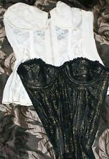 LOT of 6 ANTIQUE VINTAGE LACY CORSET BRA BUSTIER LINGERIE GARTERS STUDY