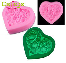 MINI Heart Rose Lace Silicone Mold Mould Sugar Craft Fondant Cake Decorating
