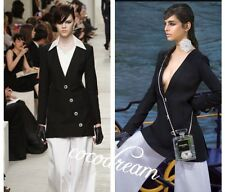 New Chanel 2014 Runway Dress Top Black Classic Chic Jacket In Cover Bag