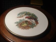 Boehm Woodland Birds of America Plate SCARLET TANAGER with Pin Oak