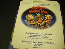 The MUPPET CHRISTMAS CAROL 1994 PROMO DISPLAY AD mint condition