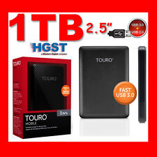 "1TB 2.5"" USB3.0 HGST TOURO External Hard Drive Disk FOR WINDOWS MAC PS3 SMART TV"