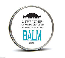 2 The Nines™ Premium Classic Cedarwood Beard Balm Growth Conditioning 30ml Tin
