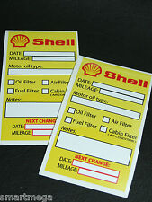 Shell Oil Change Service Reminder Sticker Set of 2