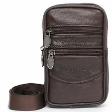 Leather Mini Messenger Bag Tactical Cellphone Phone Pouch Travel Bags Waist Pack