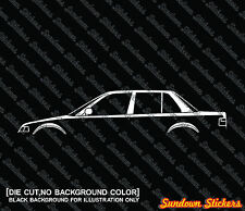 2X Car silhouette stickers - for Honda Civic EF sedan 1988-1991, 4th gen