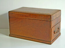 Antique Victorian camphor wood artist's drawing box signed JB Devonshire 1870