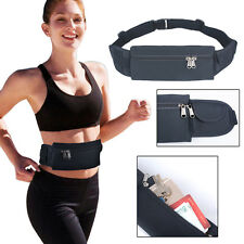 Waterproof Sports Runner Waist Bum Bag Running Jogging Belt Pouch Zip Fanny Pack