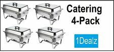 NEW CATERING 4 PACK FOLDING CHAFER CHAFING Dish Sets 8 QT PARTY PACK WITH REBATE
