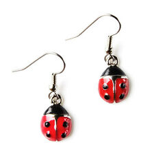 Ladybug Earrings - Weddings Accessories - Bridal Jewelry - Handmade - Gift Box