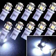 10X T10 194 168 W5W 5 SMD 5050 White LED Car Wedge Tail Side Light Lamp Bulb 12V