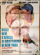 manifesto 2F originale FOREVER YOUNG FOREVER FREE - DALLE NEVI D'AFRICA... 1976