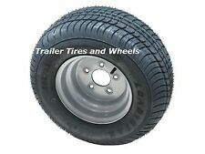 "*2* 205/65-10 LRE Bias Trailer Tires on 10"" 5 Lug Silver Wheels 20.5x8.0-10"