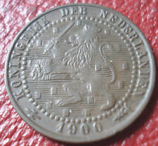 1900 NETHERLANDS 1 CENT IN EF CONDITION