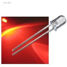 20 LEDs ROJO 5mm claro como el agua,rojos LED+Resistencia protectora zB 12V 24V