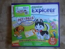 Leapfrog Leapster Explorer Pet Pals Game case Leap Pad 2 3 GS XDi Ultra
