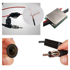 Auto Car Antenna Amplifier Radio Booster FM AM Signal Amp Inline Adapter