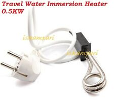 Travel Water Immersion Heater 0.5KW Travel Camping Mini Boiler Hot Water Coffee