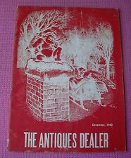 The Antiques Dealer Magazine December 1960 Santa Smoking Pipe Christmas
