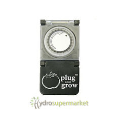 PLUG AND GROW HEAVY DUTY TIMER - SWITCH'S 2 X  600W GROW LIGHTS FOR GROW TENT