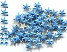 STARS  Rhinestuds  8mm Pearl Color BLUE  Hot Fix 1 gross