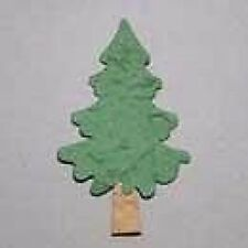 PACK 5 LIGHT GREEN CHRISTMAS TREE  EMBELLISHMENTS FOR CARDS & CRAFTS