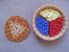 FISHER PRICE FUN FOOD LITTLE TIKES ● SURPRISE FRUIT LATTICE PIE ~ REVERSE TOP