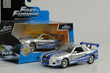 2002 Brian`s Nissan Skyline GT-R 34 Movie Fast and & Furious silver 1:32 jada