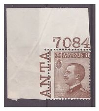 REGNO 1917  -  MICHETTI    CENT.  40    NUOVO  **  NUMERO DI TAVOLA