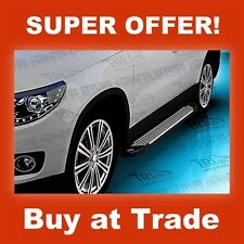 VW TIGUAN  Side Steps -SAPPHIRE SILVER EDITION -  Running Boards 2008-UP
