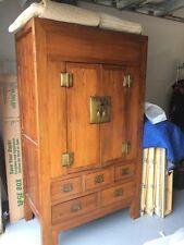 19th Century Asian Wardrobe Chest Bureau Solid Wood