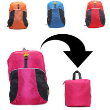 Nylon Foldable Backpack Lot of 12  Whistle Light Weight Portable Hiking Bag
