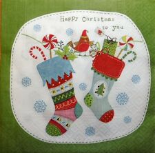 20 x PAPER NAPKINS (FULL PACK)  CHRISTMAS PRESENTS BIRD - PARTY , TABLE   - 53