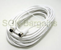 4m MALE TO MALE TV AERIAL COAXIAL CABLE EXTENSION FREEVIEW CABLE COAX LEAD