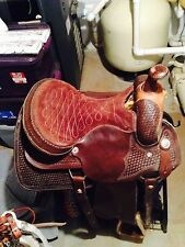 "Boy's 16"" Custom riding saddle and accessories"
