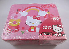 Hello Kitty 100 Piece Puzzle And Metal Lunch Box - Never Opened