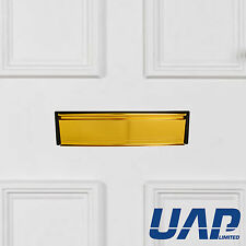 10 Inch Anodised Gold Letterbox (40-80mm) with Anti-Snap 180 Degree Opening Flap