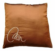 2 x 16'' 100% Thai Silk luxury cushion covers.
