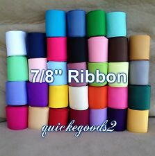"""34 yards 7/8"""" Wholesale Solid Grosgrain Ribbon Supplies Lot USA Free Shipping"""
