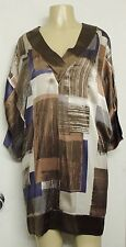 BCBG MAX AZRIA 100% SILK KIMONO ASIAN BLOCK DESIGN DRESS S
